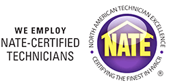 We employ NATE Certified Technicians at Certified Service
